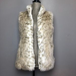 Faux Fur & Leather Leopard Reversible Vest
